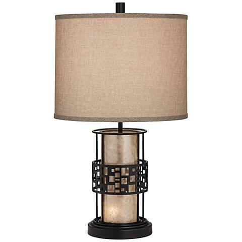 Cooper Mica LED Night Light Table Lamp