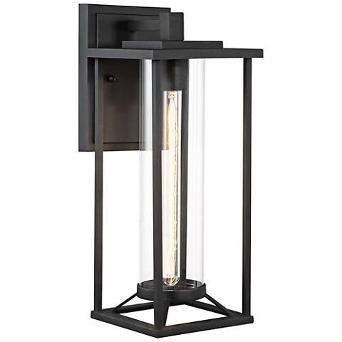 "Trescott 17 1/4"" High Black Outdoor Wall Light"