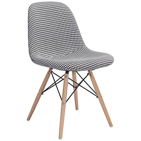 Zuo Sappy Houndstooth Fabric Dining Chair