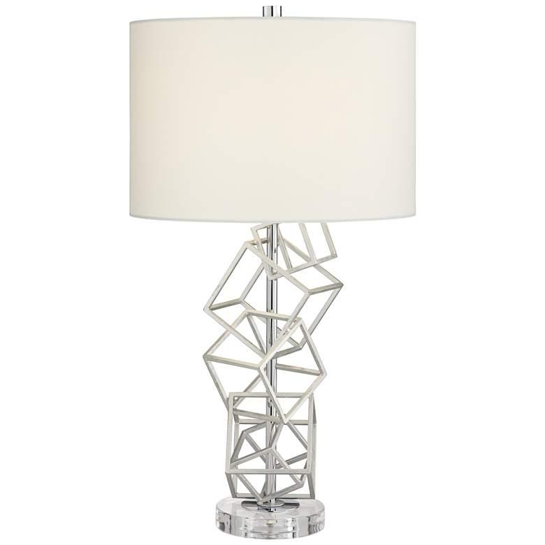 Flinn Metal Cubes Modern Table Lamp