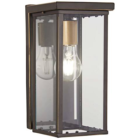 """Casway 11 1/4""""H Oil-Rubbed Bronze Outdoor Pocket Wall Light"""