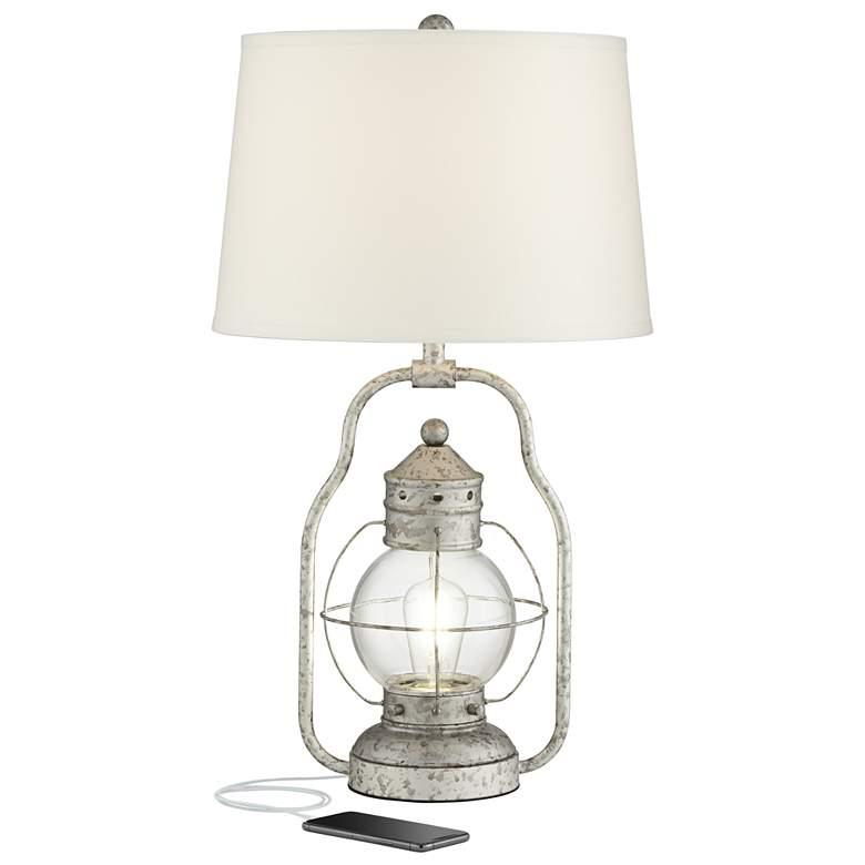 Bodie Lantern Night Light LED Table Lamp with USB Port