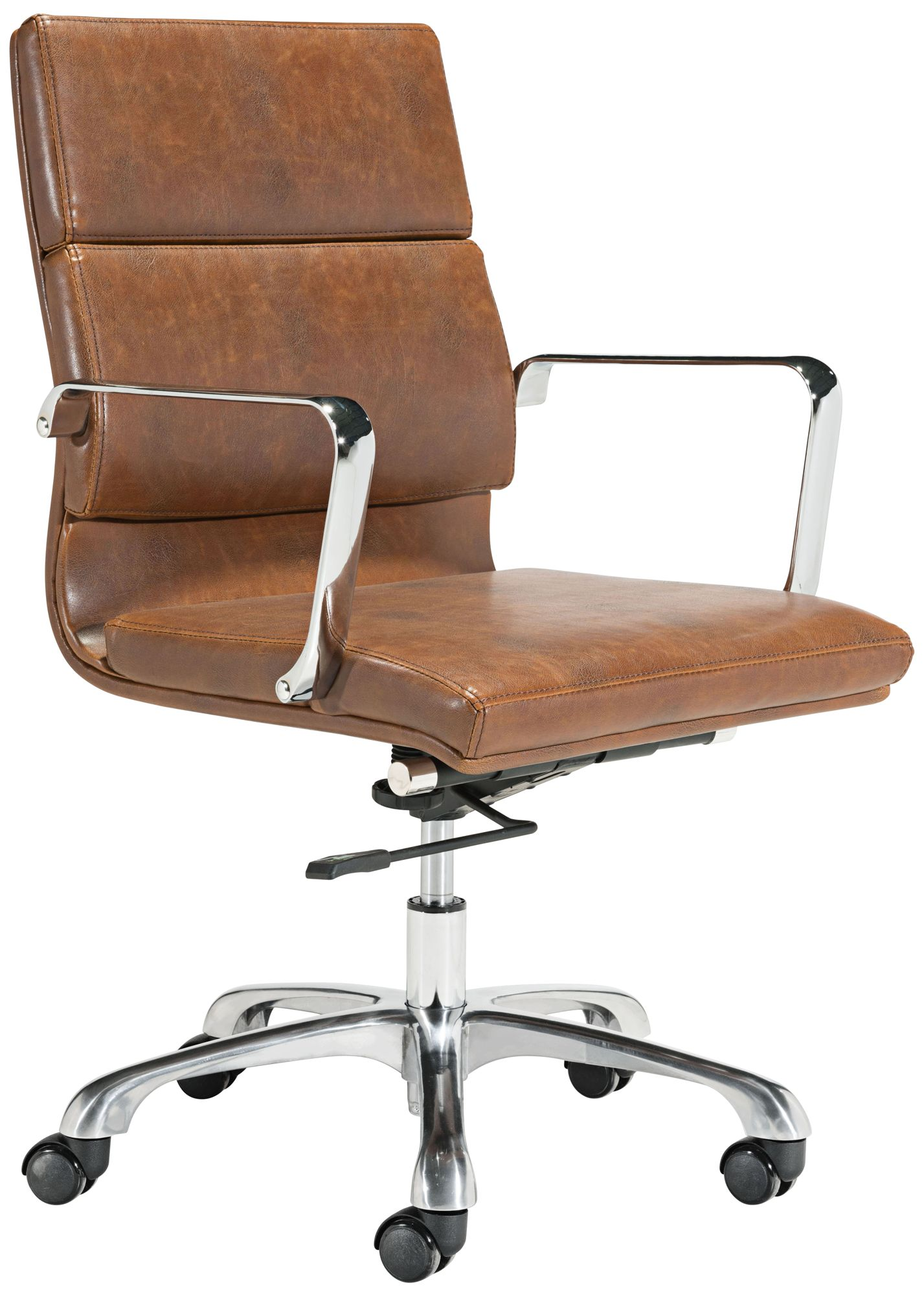Leather antique wood office chair leather antique Leather Swivel Ithaca Vintage Brown Faux Leather Adjustable Office Chair 53x30 Lamps Plus Ithaca Vintage Brown Faux Leather Adjustable Office Chair 53x30