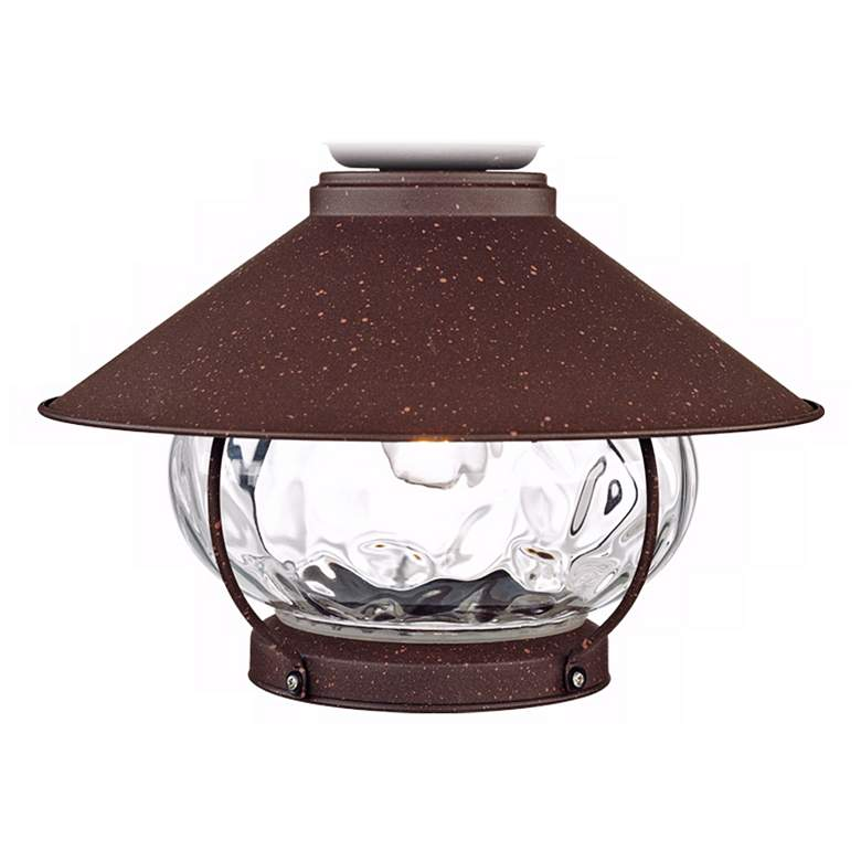 Oil-Rubbed Bronze Lantern Wet-Rated LED Fan Light Kit