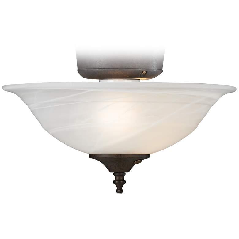 Alabaster Bowl Multi Cap Finish Pull Chain LED