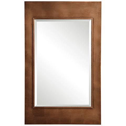"Toulmin Metallic Copper Leaf 30 1/4"" x 48"" Wall Mirror"