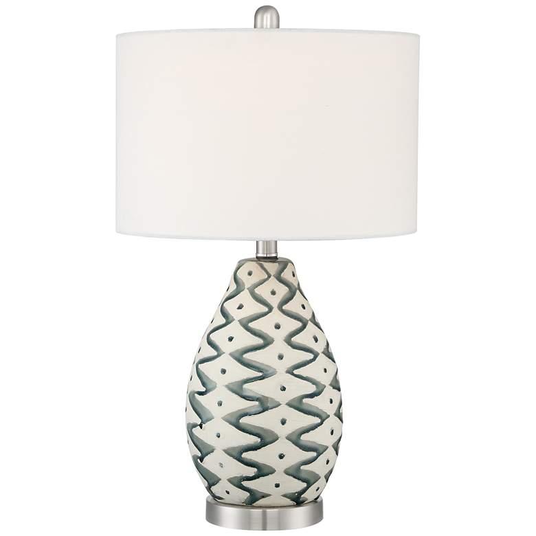Jones Painted Ceramic Table Lamp