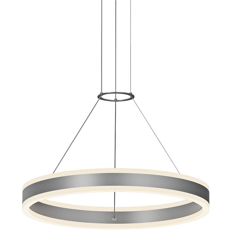 "Double Corona™ 23 3/4""W Aluminum 2-Light LED Pendant"