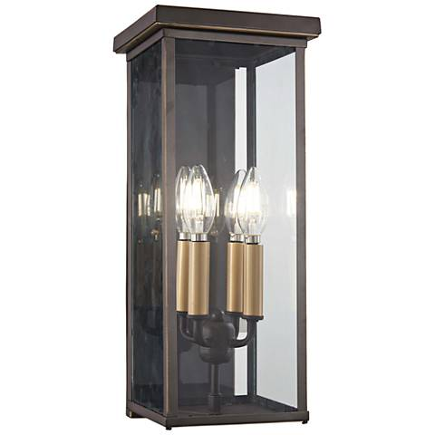 """Casway 17"""" High Oil-Rubbed Bronze Outdoor Pocket Wall Light"""
