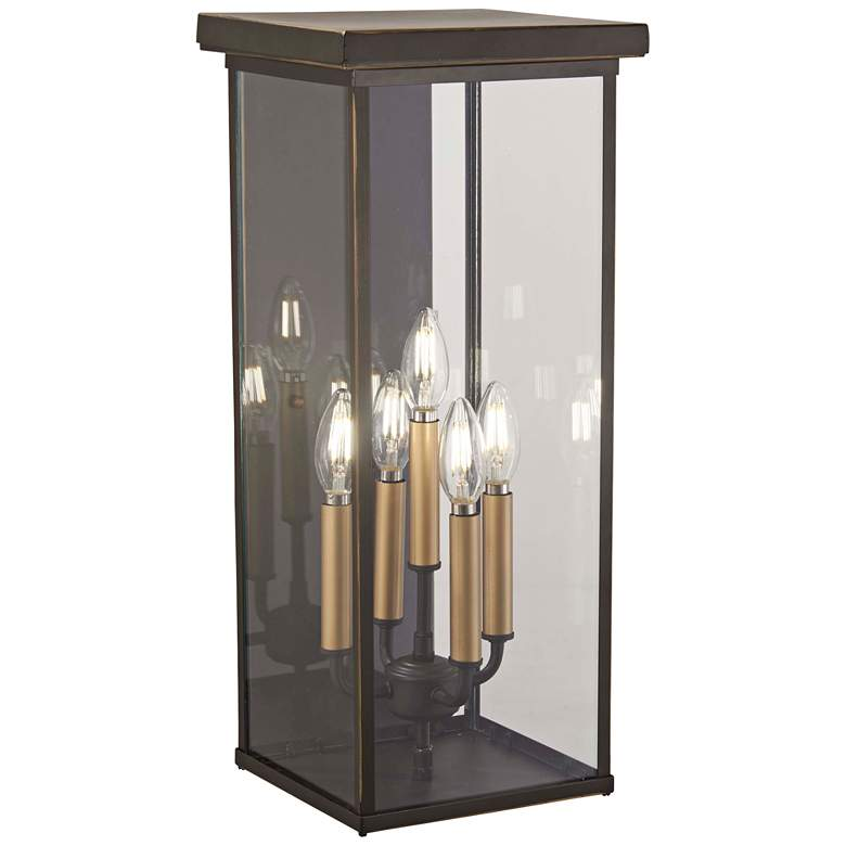 """Casway 22"""" High Oil-Rubbed Bronze Outdoor Pocket Wall Light"""