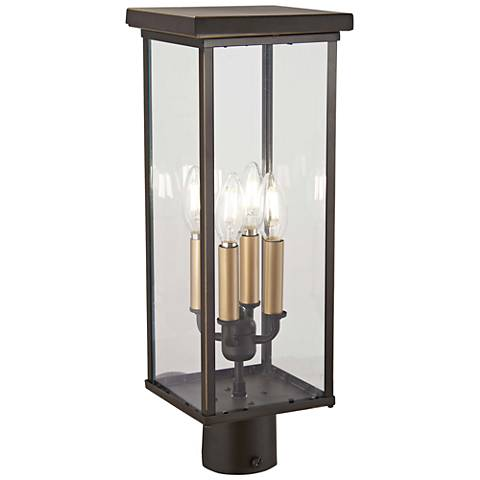 "Casway 19 1/2"" High Oil-Rubbed Bronze Outdoor Post Light"