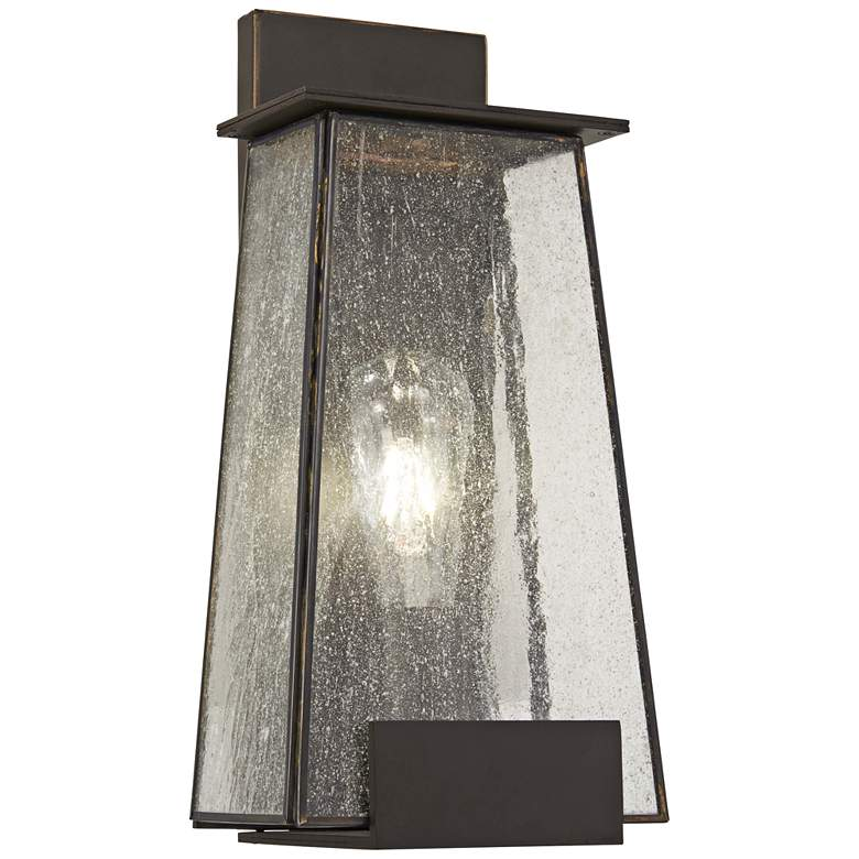 "Bistro Dawn 14 1/4"" High Dakota Bronze Outdoor Wall Light"