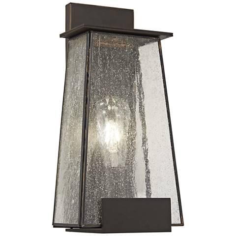 """Bistro Dawn 14 1/4"""" High Dakota Bronze Outdoor Wall Light"""