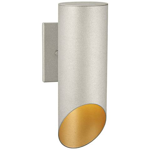"""Pineview Slope 12 1/2"""" High Sand Silver Outdoor Wall Light"""