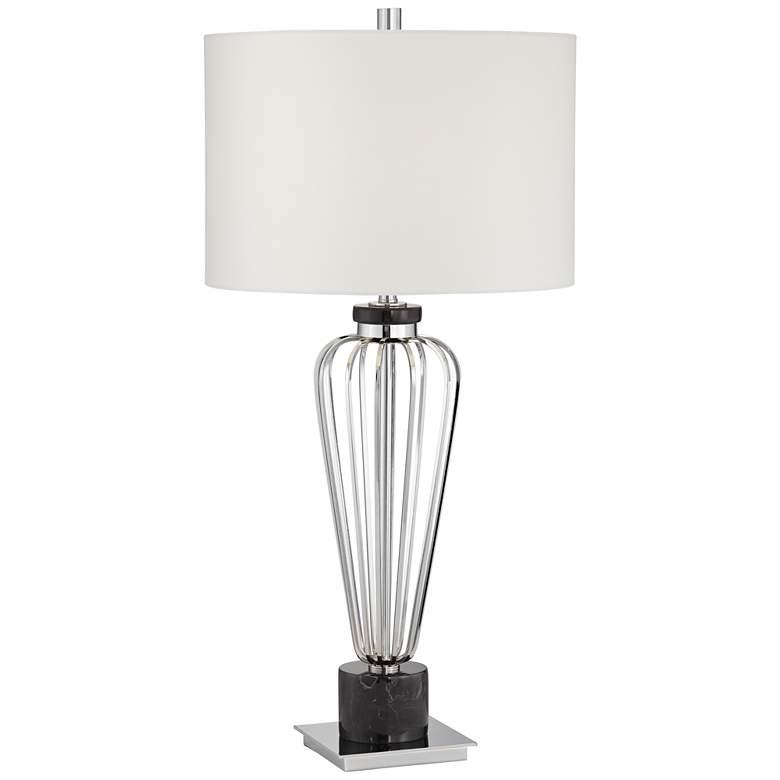 Adrian Brushed Nickel Modern Table Lamp