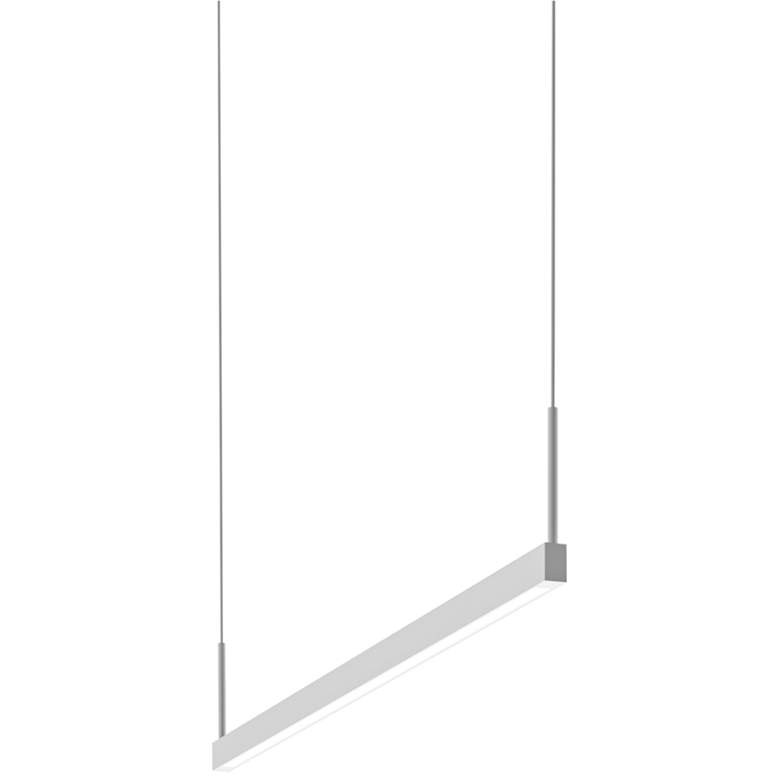 """Thin-Line™ 36"""" Wide Satin White One-Sided LED Pendant"""