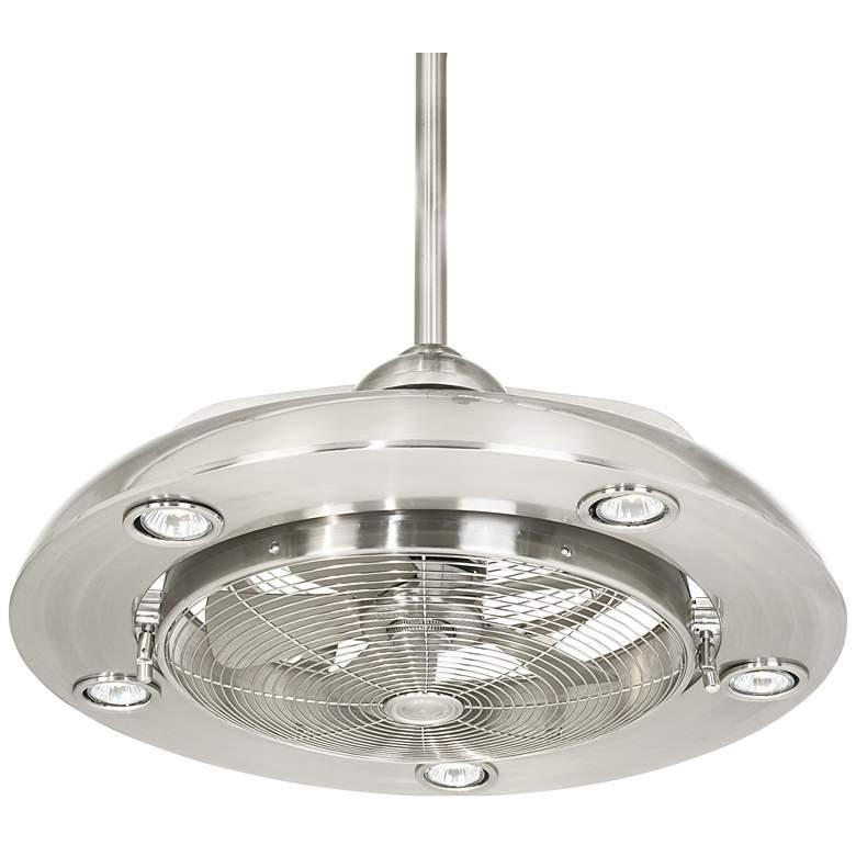 "Possini Euro Segue 24"" Wide Brushed Nickel LED Ceiling Fan"