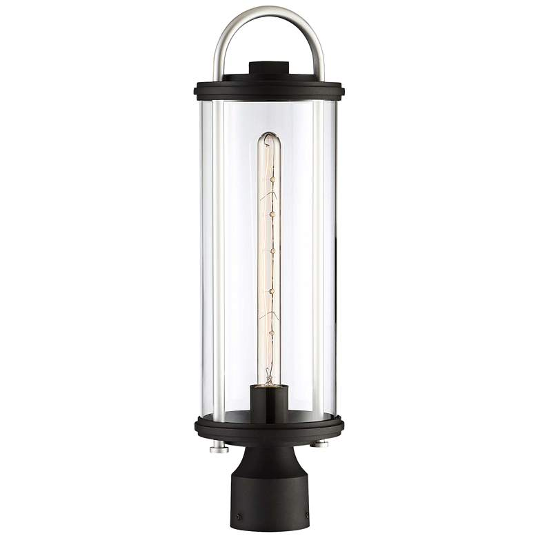 "Keyser 21 3/4"" High Black and Silver Outdoor Post Light"