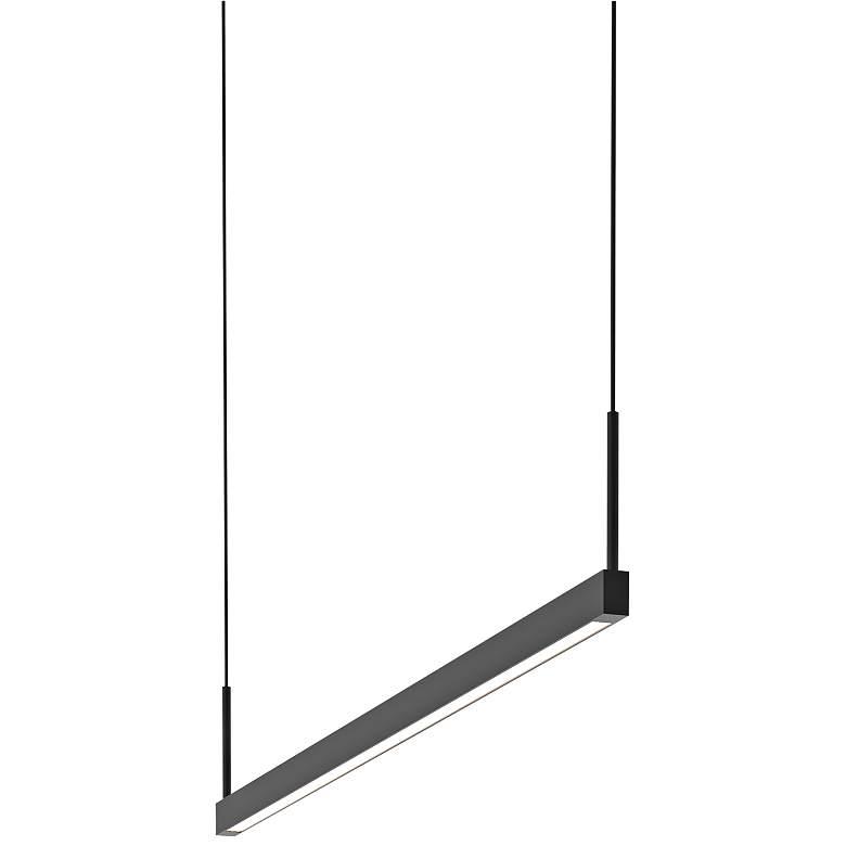 "Thin-Line 36""W Black One-Sided LED Kitchen Island Pendant"