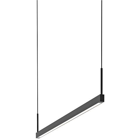 "Thin-Line™ 36"" Wide Satin Black One-Sided LED Island Pendant"