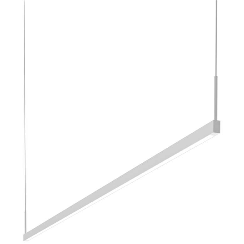"Thin-Line 72""W White Two-Sided LED Kitchen Island Pendant"