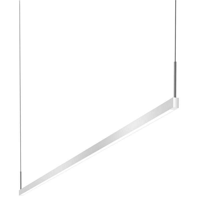 "Thin-Line™ 72""W Satin Aluminum Two-Sided LED Island Pendant"