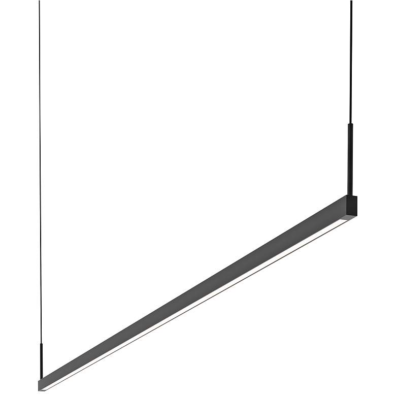 """Thin-Line™ 72"""" Wide Satin Black Two-Sided LED Island Pendant"""