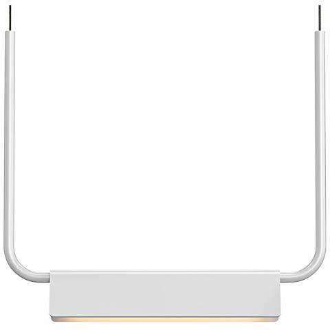 """Sonneman Morii™ 15"""" Wide Satin White LED Pendant Light"""