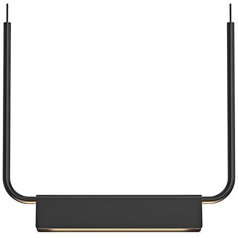 """Sonneman Morii™ 15"""" Wide Satin Black LED Pendant Light"""