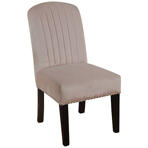 Parson Blush Velvet Channel Back Dining Chair
