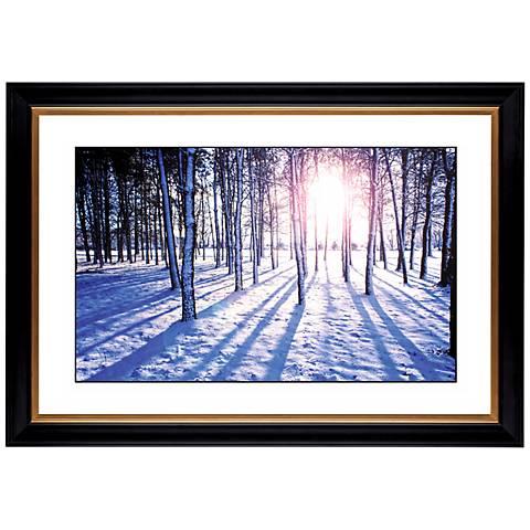 "Snow Field Giclee 41 3/8"" Wide Wall Art"