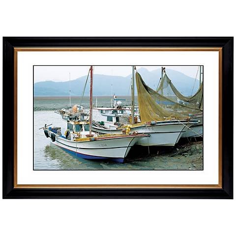 "Fishing Boats Giclee 41 3/8"" Wide Wall Art"