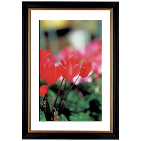 "Red Poppy Giclee 41 3/8"" High Wall Art"