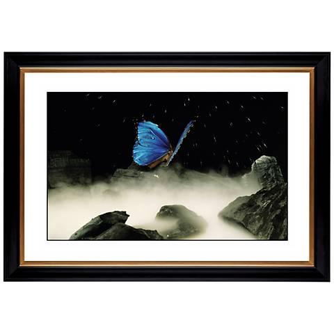 """Blue Butterfly Giclee 41 3/8"""" Wide Wall Art"""