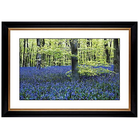 """Blue Poppies Giclee 41 3/8"""" Wide Wall Art"""