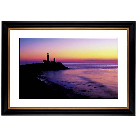 "Lighthouse At Sunset Giclee 41 3/8"" High Wall Art"