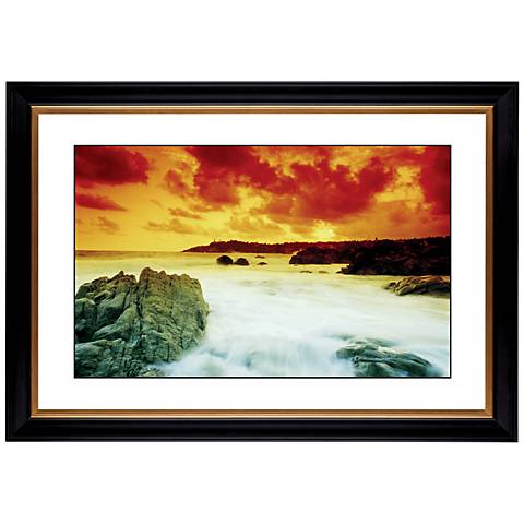 "Coastal Tide Pool Giclee 41 3/8"" Wide Wall Art"