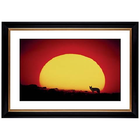 "Los Lobos Sunset Giclee 41 3/8"" Wide Wall Art"