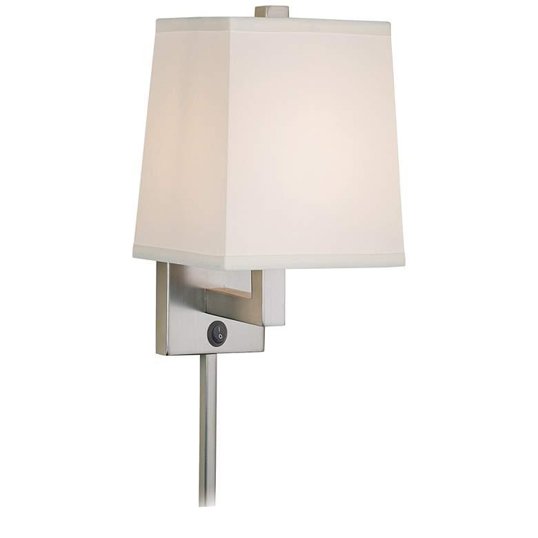 59th Street Brushed Nickel Plug-In Wall Lamp
