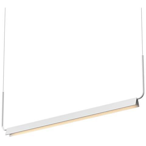 """Sonneman Morii™ 48"""" Wide Satin White LED Island Pendant"""