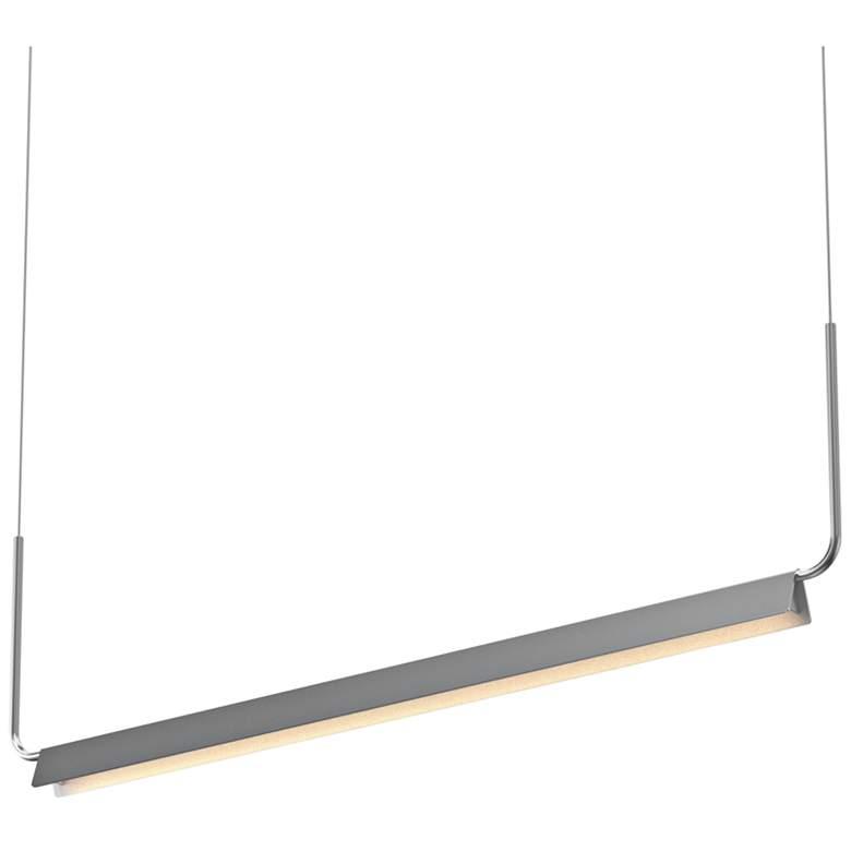 "Morii 48""W Satin Aluminum LED Kitchen Island Light Pendant"