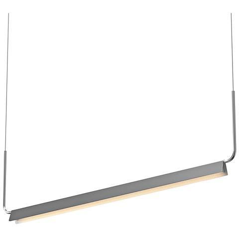 "Morii™ 48"" Wide Bright Satin Aluminum LED Island Pendant"