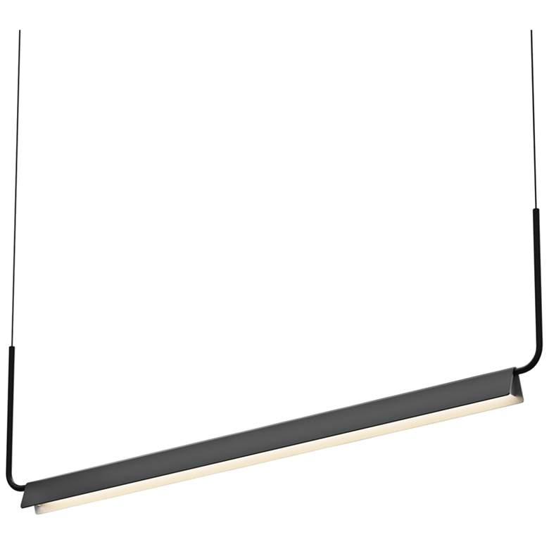 "Morii 48"" Wide Satin Black LED Kitchen Island Light Pendant"