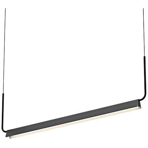 "Sonneman Morii™ 48"" Wide Satin Black LED Island Pendant"