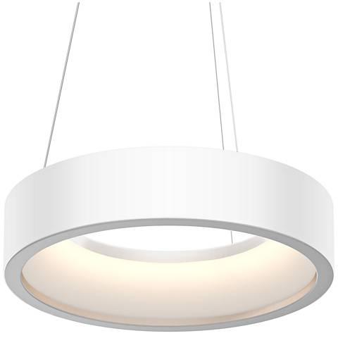 """Sonneman Tromme™ 18"""" Wide Satin White LED Pendant Light"""