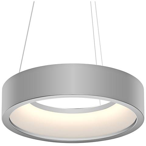 "Sonneman Tromme™ 18"" Wide Satin Aluminum LED Pendant Light"