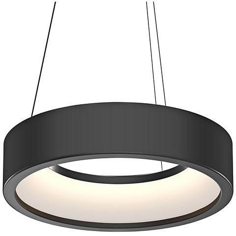 """Sonneman Tromme™ 18"""" Wide Satin Black LED Pendant Light"""