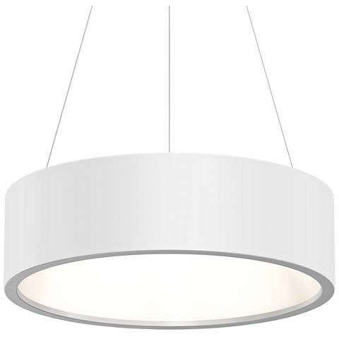 """Sonneman Tromme™ 24"""" Wide Satin White LED Pendant Light"""