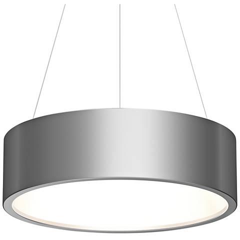 "Sonneman Tromme™ 24"" Wide Satin Aluminum LED Pendant Light"