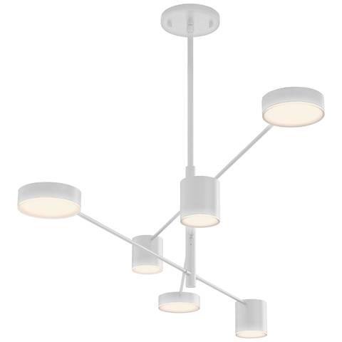 "Sonneman Counterpoint™ 45""W Satin White 6-Light LED Pendant"